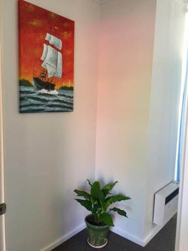 opening the treatment room door