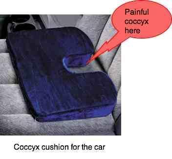 coccyx cushion for tailbone pain